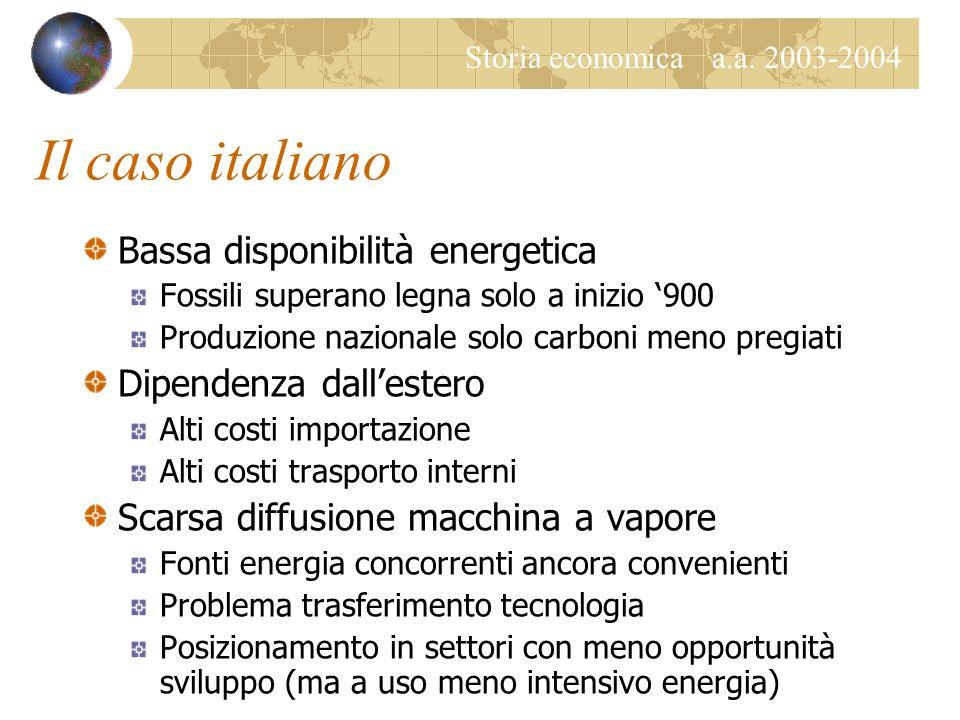Storia economica a.a. 2003-2004 La macchina a vapore Macchine e miniere Esaurimento vene superficiali Problemi di pompaggio, aerazione, trasporto Macc