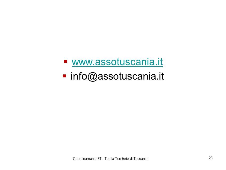 www.assotuscania.it info@assotuscania.it Coordinamento 3T - Tutela Territorio di Tuscania 28