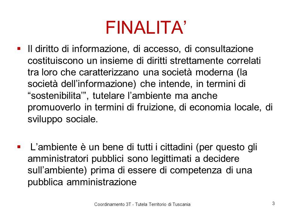 Informazione ambientale DATI DA PUBBLICARE SUI SITI WEB ISTITUZIONALI 14 Coordinamento 3T - Tutela Territorio di Tuscania