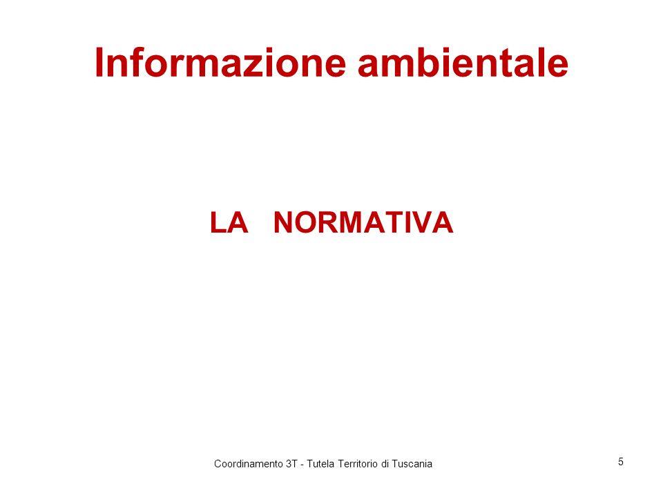 Informazione ambientale LA NORMATIVA 5 Coordinamento 3T - Tutela Territorio di Tuscania