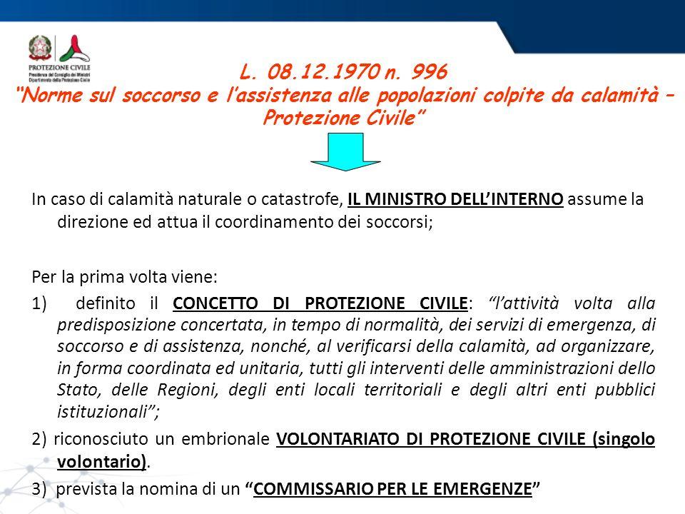 Soggetti che intervengono L.225/92 Le Strutture Operative Nazionali: (art.