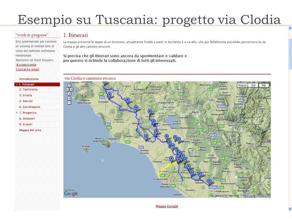 Esempio su Tuscania: progetto via Clodia