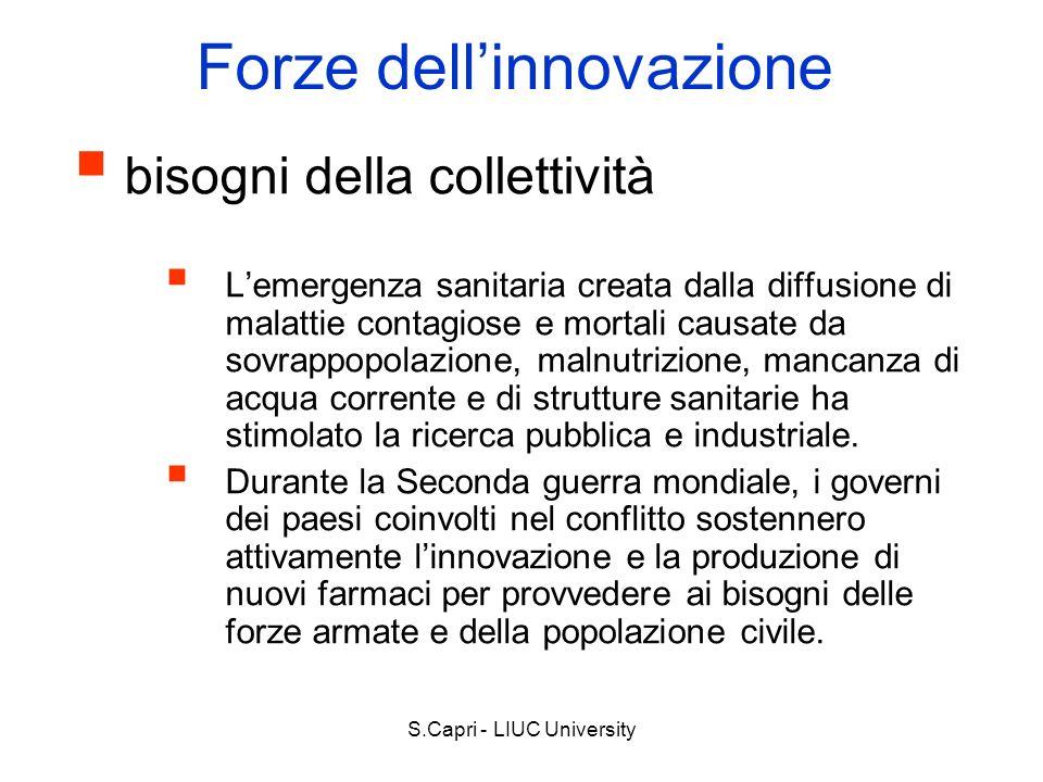 S.Capri - LIUC University Forze dellinnovazione bisogni della collettività Lemergenza sanitaria creata dalla diffusione di malattie contagiose e morta
