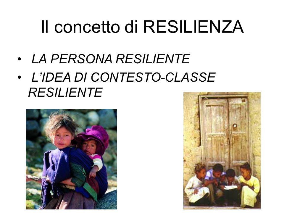 A) Perché aiutare il gruppo classe a diventare resiliente.