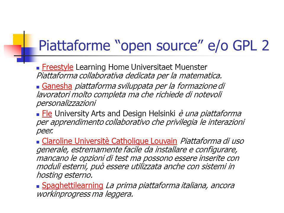Piattaforme open source e/o GPL 2 Freestyle Learning Home Universitaet Muenster Piattaforma collaborativa dedicata per la matematica.Freestyle Ganesha