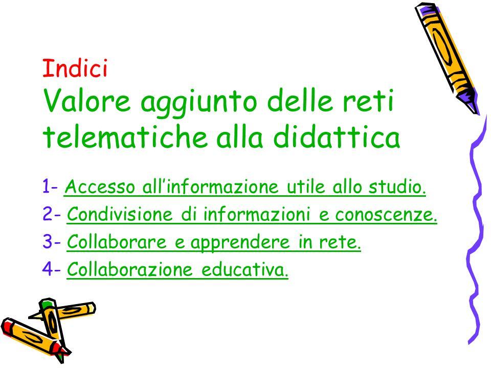 1- Accesso allinformazione utile allo studio.Accesso allinformazione utile allo studio.