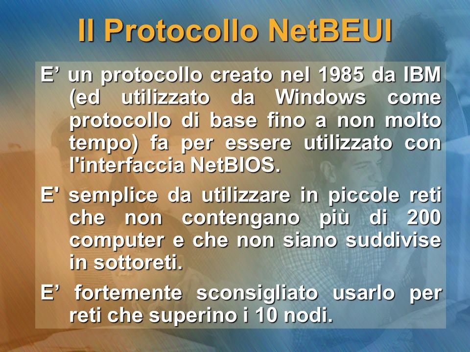 I Protocolli TCP/IP Acronimo di Transmit Control Protocol e Internet Protocol.