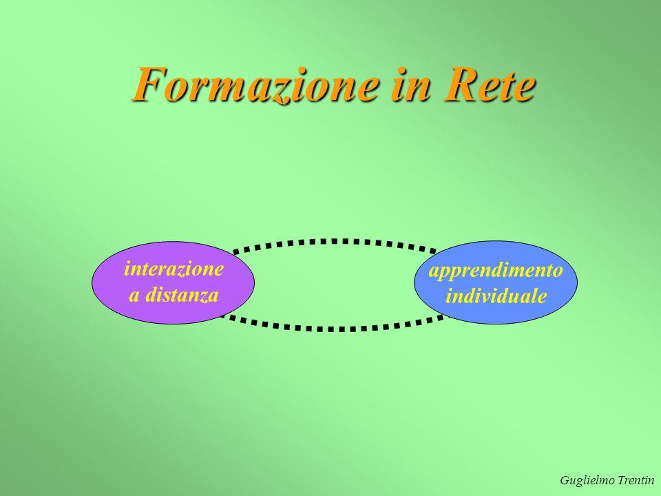 Guglielmo Trentin apprendimento individuale interazione a distanza Formazione in Rete