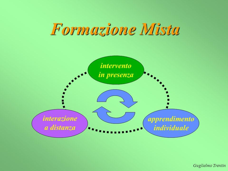Guglielmo Trentin apprendimento individuale interazione a distanza intervento in presenza Formazione Mista