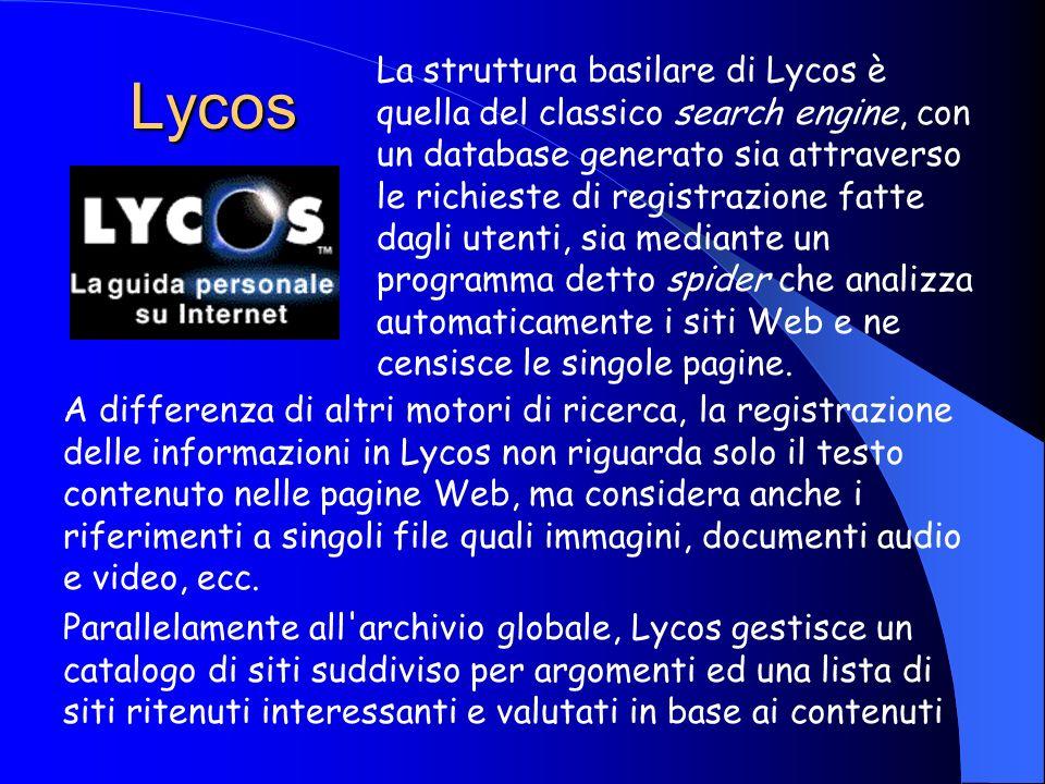 Virgilio Virgilio censisce circa 100.000 siti italiani con l'aggiunta di 150 nuovi siti ogni giorno, ed offre una vastissima gamma di servizi funziona