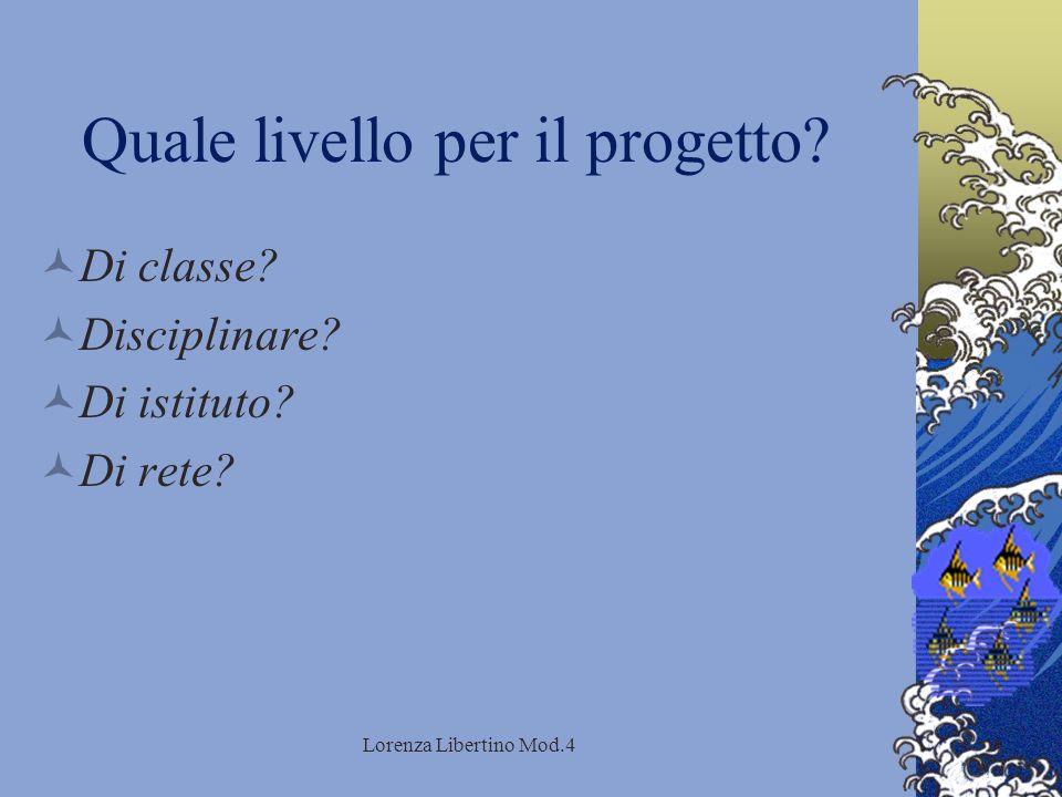 Lorenza Libertino Mod.4 Quale livello per il progetto.
