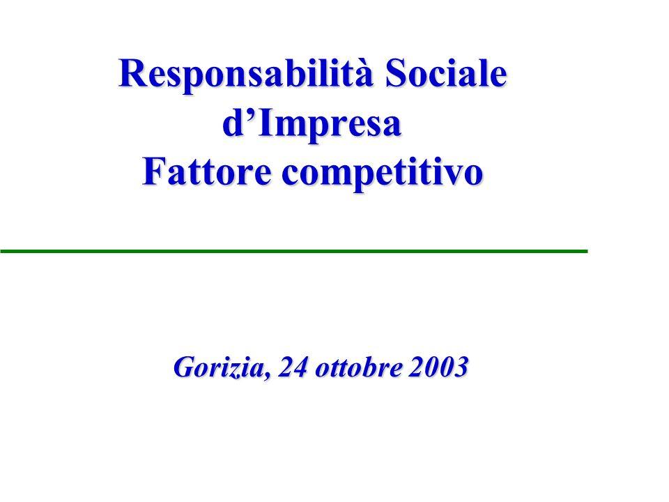 Responsabilità sociale d impresa Accresce il valore dimpresa Sodalitas, Associazione per lo Sviluppo dellImprenditoria nel Sociale