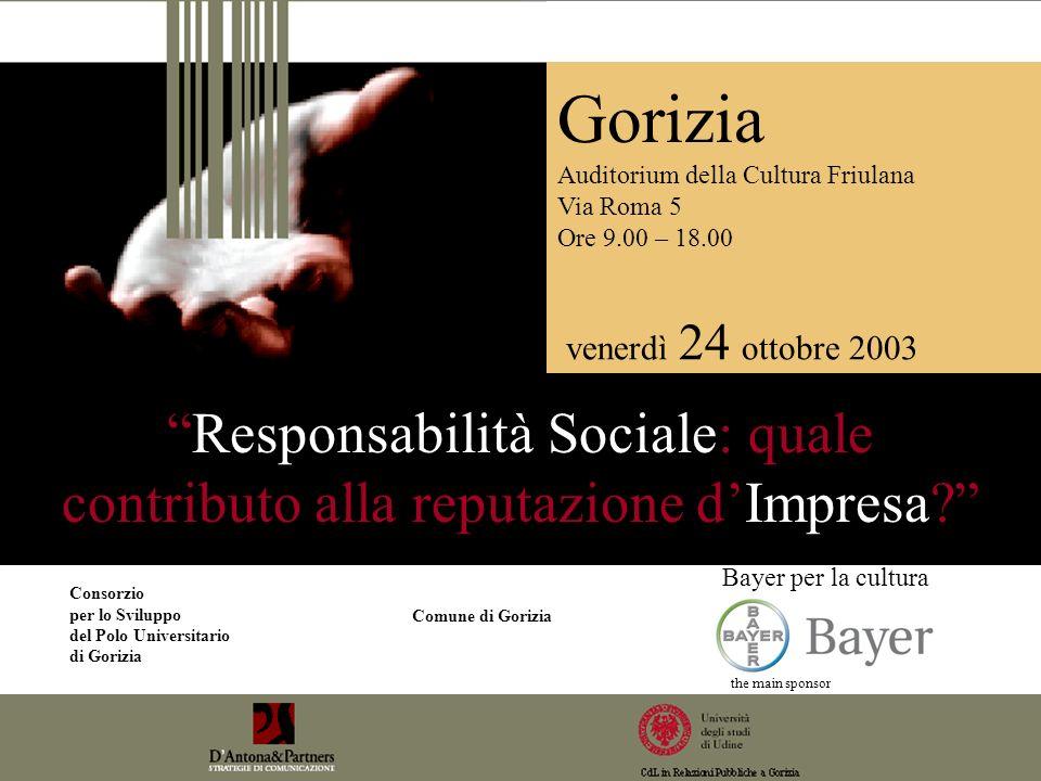 Responsabilità Sociale: quale contributo alla reputazione dImpresa.