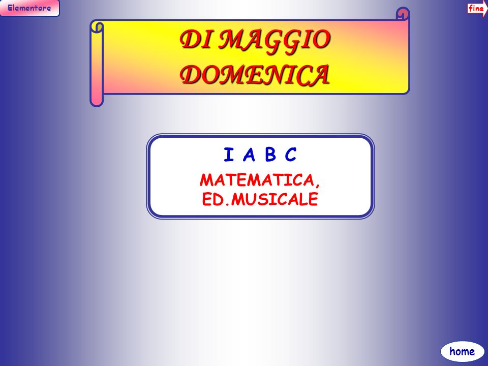 fine Elementare home DI MAGGIO CROCIFISSA I A B C ITALIANO, ED.IMMAGINE