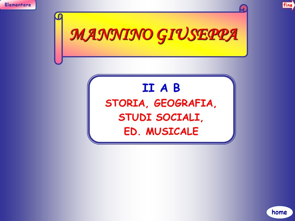 fine Elementare home MESSANA MARIA I A B C STORIA, GEOGRAFIA, STUDI SOCIALI I B C ED. MOTORIA