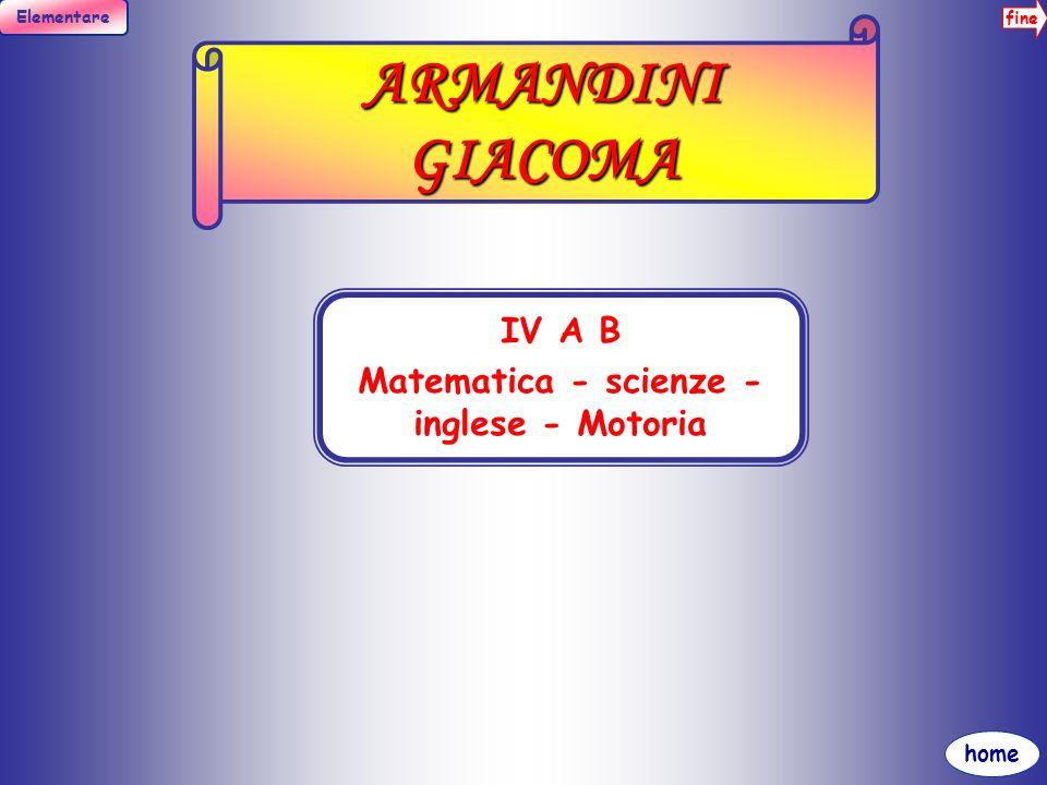 fine Elementare home BADALAMENTI ROSA III B, IV SOSTEGNO