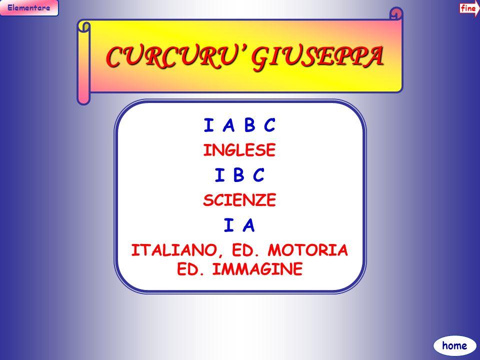 fine Elementare home DAVI MARIA III A B ITALIANO ED. IMMAGINE
