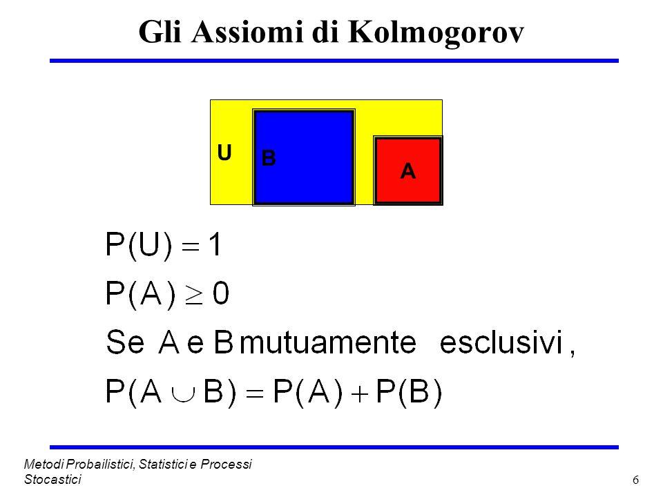 57 Metodi Probailistici, Statistici e Processi Stocastici Matrice di Markov dellesempio Lultimo passo prima di riempire la matrice è quello di calcolare le pij mediante la distribuzione di Poisson.