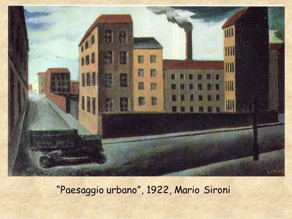 Paesaggio urbano, 1922, Mario Sironi