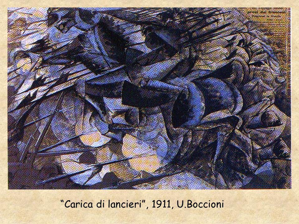 Carica di lancieri, 1911, U.Boccioni