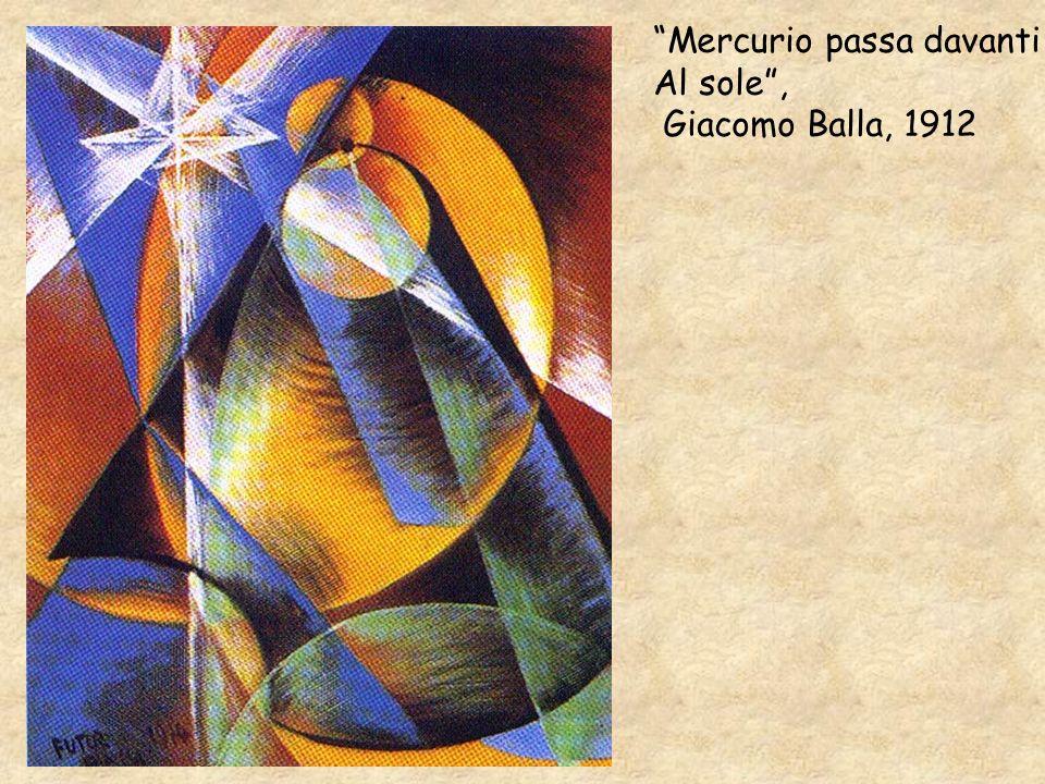 Mercurio passa davanti Al sole, Giacomo Balla, 1912