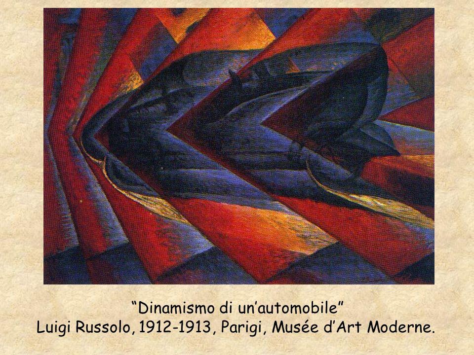Dinamismo di unautomobile Luigi Russolo, 1912-1913, Parigi, Musée dArt Moderne.