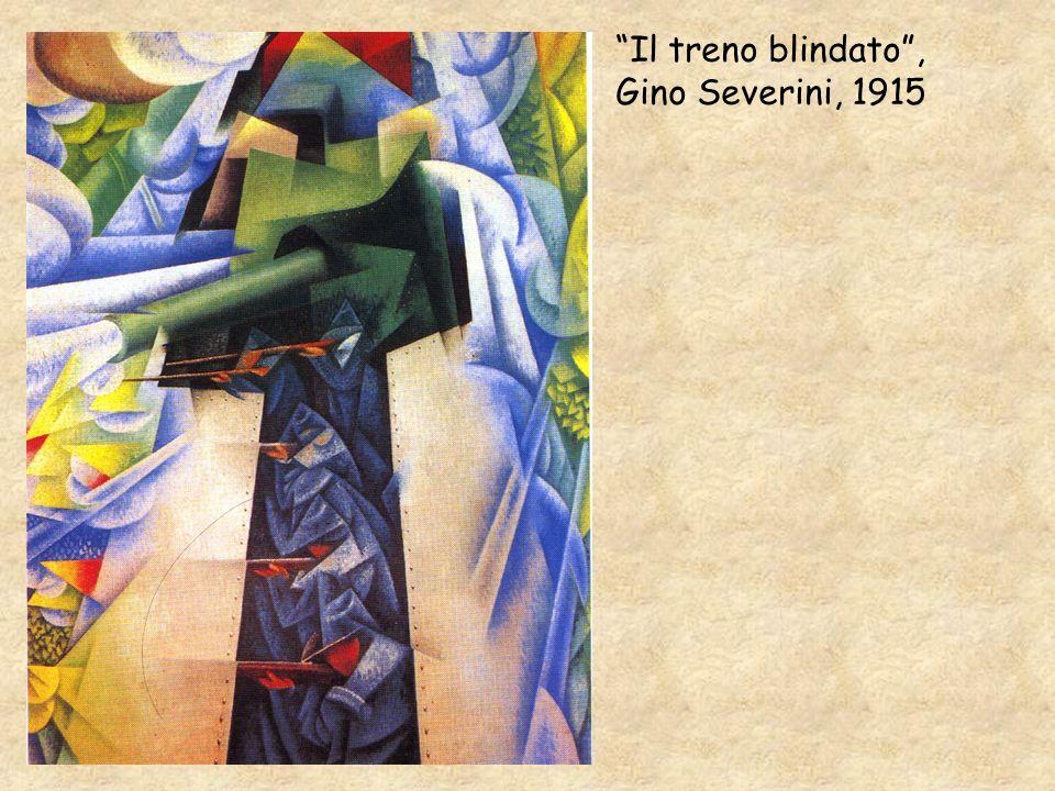 Il treno blindato, Gino Severini, 1915