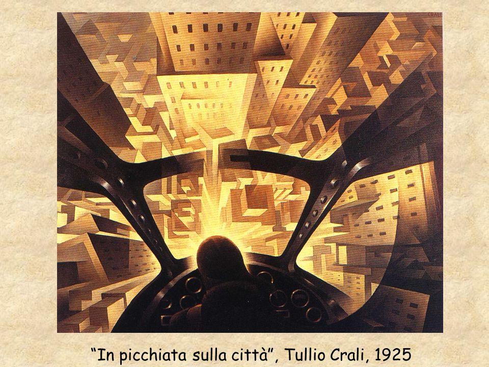 In picchiata sulla città, Tullio Crali, 1925