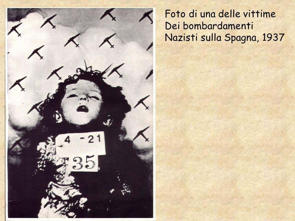 Foto di una delle vittime Dei bombardamenti Nazisti sulla Spagna, 1937