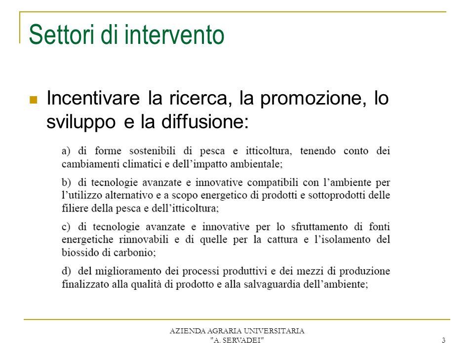 AZIENDA AGRARIA UNIVERSITARIA A.SERVADEI 4 Progetti 2006 1.