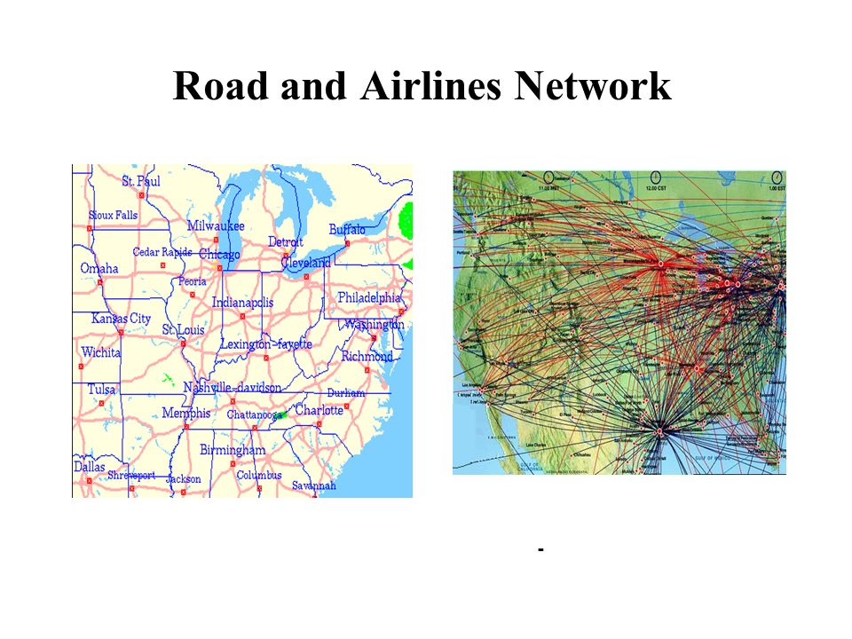 Road and Airlines Network - -