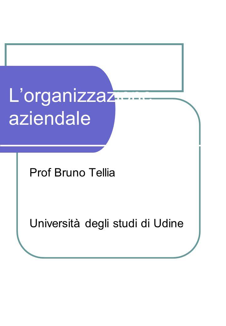 Lorganizzazione aziendale Prof Bruno Tellia Università degli studi di Udine