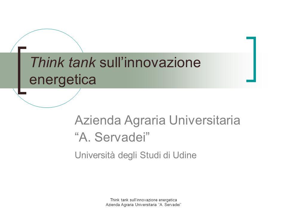 Think tank sull'innovazione energetica Azienda Agraria Universitaria A. Servadei Think tank sullinnovazione energetica Azienda Agraria Universitaria A