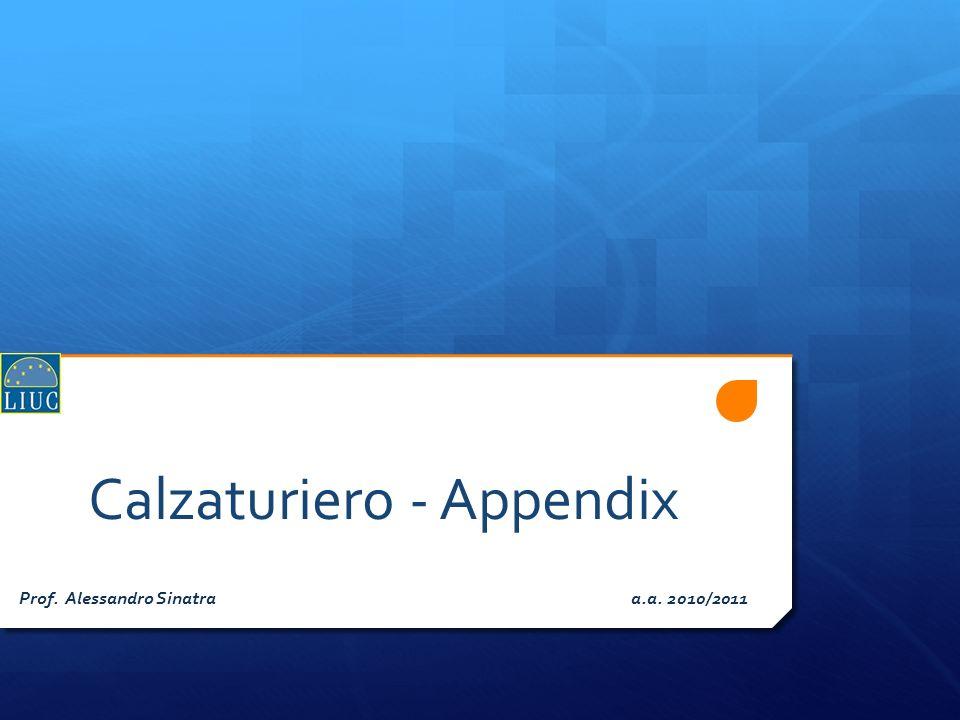 Calzaturiero - Appendix Prof. Alessandro Sinatra a.a. 2010/2011