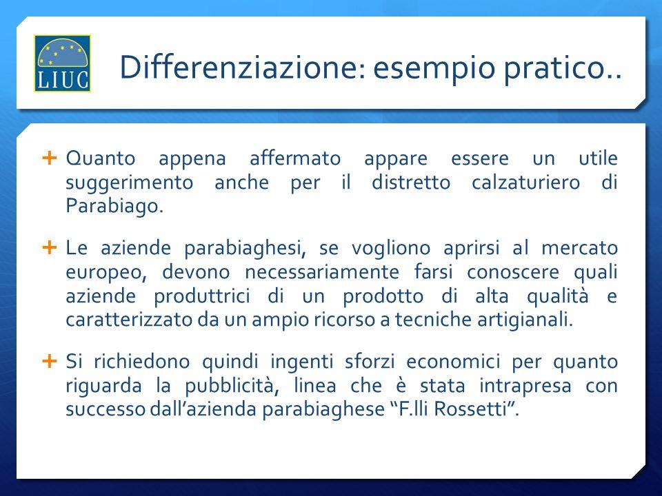 Differenziazione: esempio pratico..