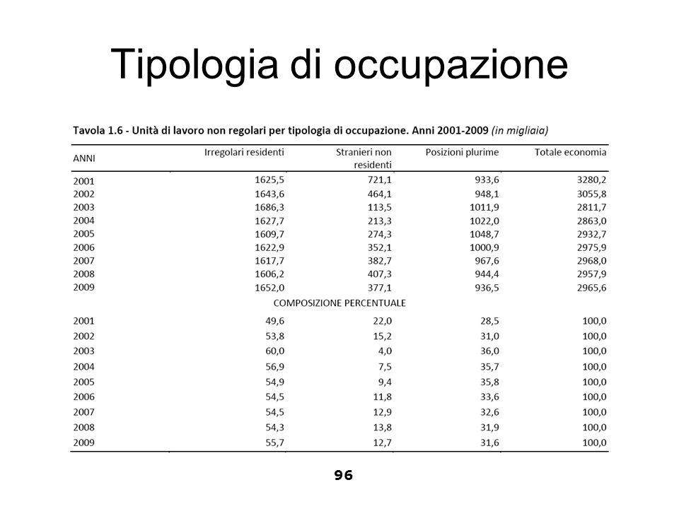 Tipologia di occupazione 96