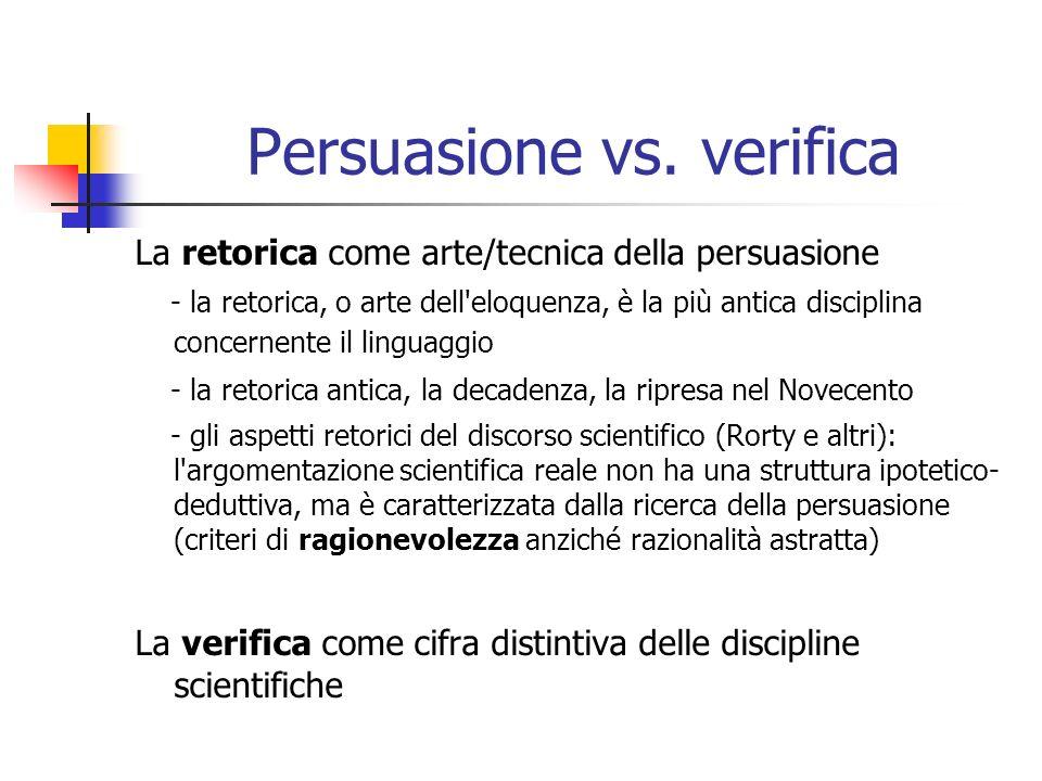 Persuasione vs.