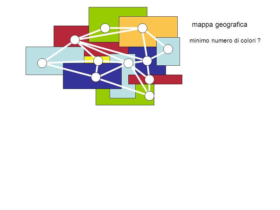 mappa geografica minimo numero di colori ?
