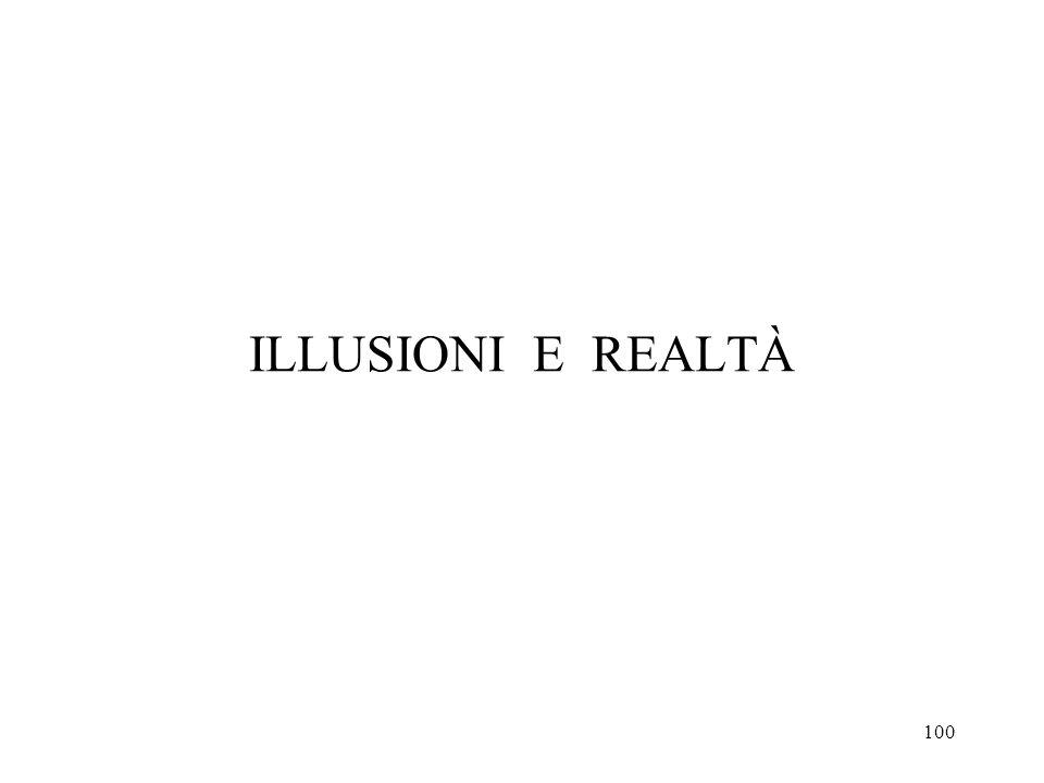 100 ILLUSIONI E REALTÀ
