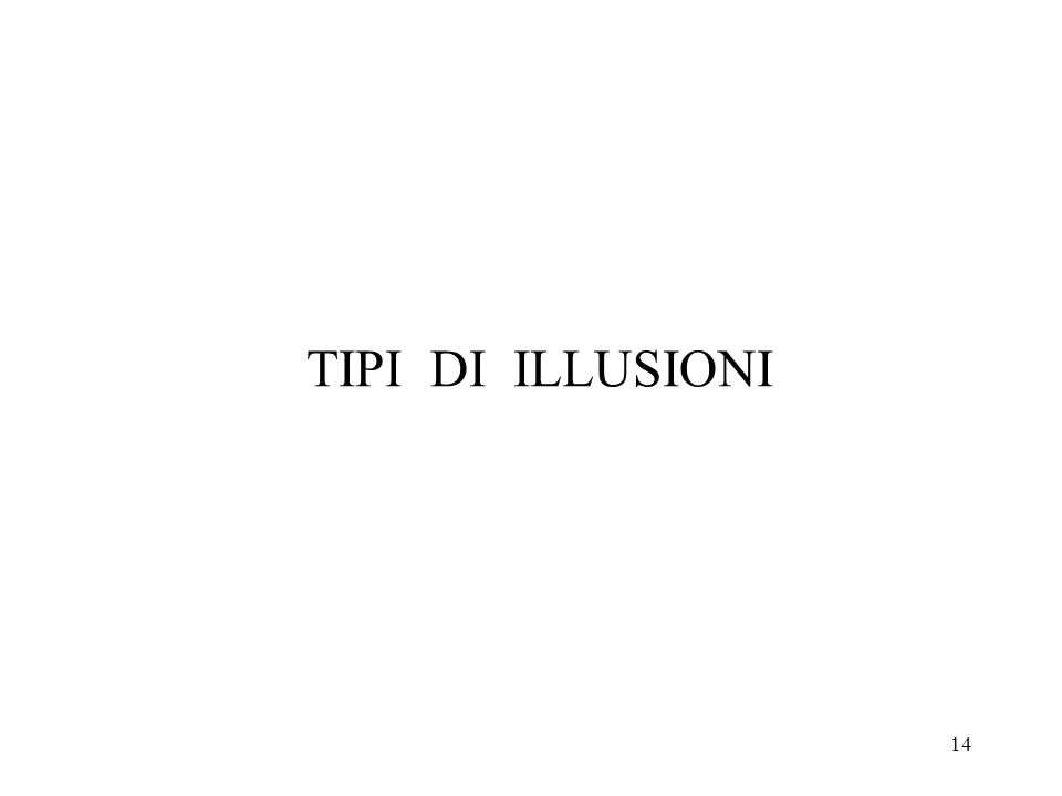 14 TIPI DI ILLUSIONI