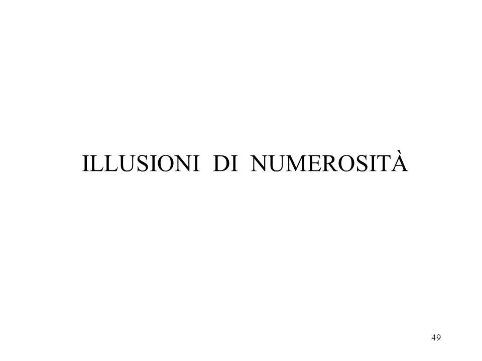 49 ILLUSIONI DI NUMEROSITÀ
