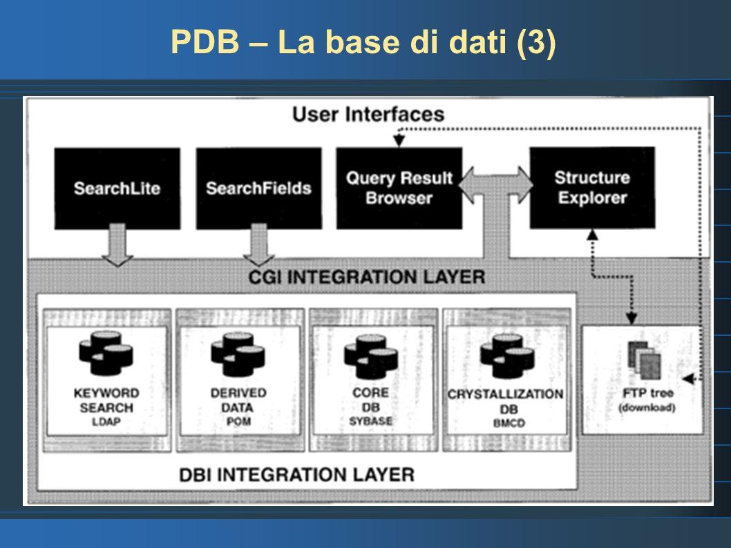 PDB – La base di dati (3)