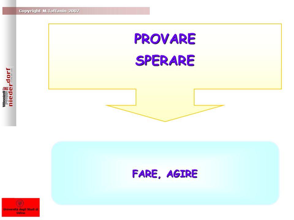 Copyright M.Toffanin 2007 FARE, AGIRE PROVARESPERARE