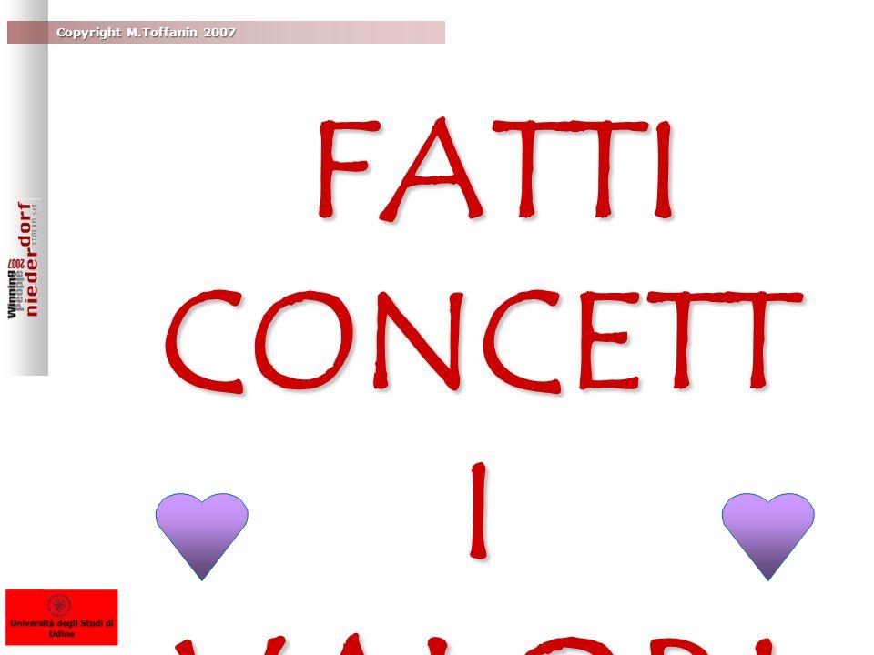 Copyright M.Toffanin 2007 FATTI CONCETT I VALORI