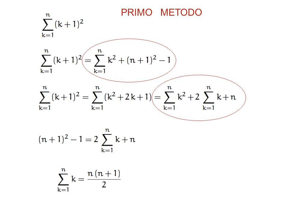 PRIMO METODO