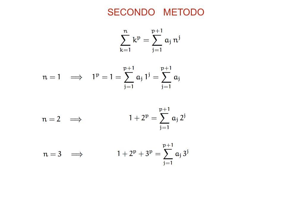 SECONDO METODO