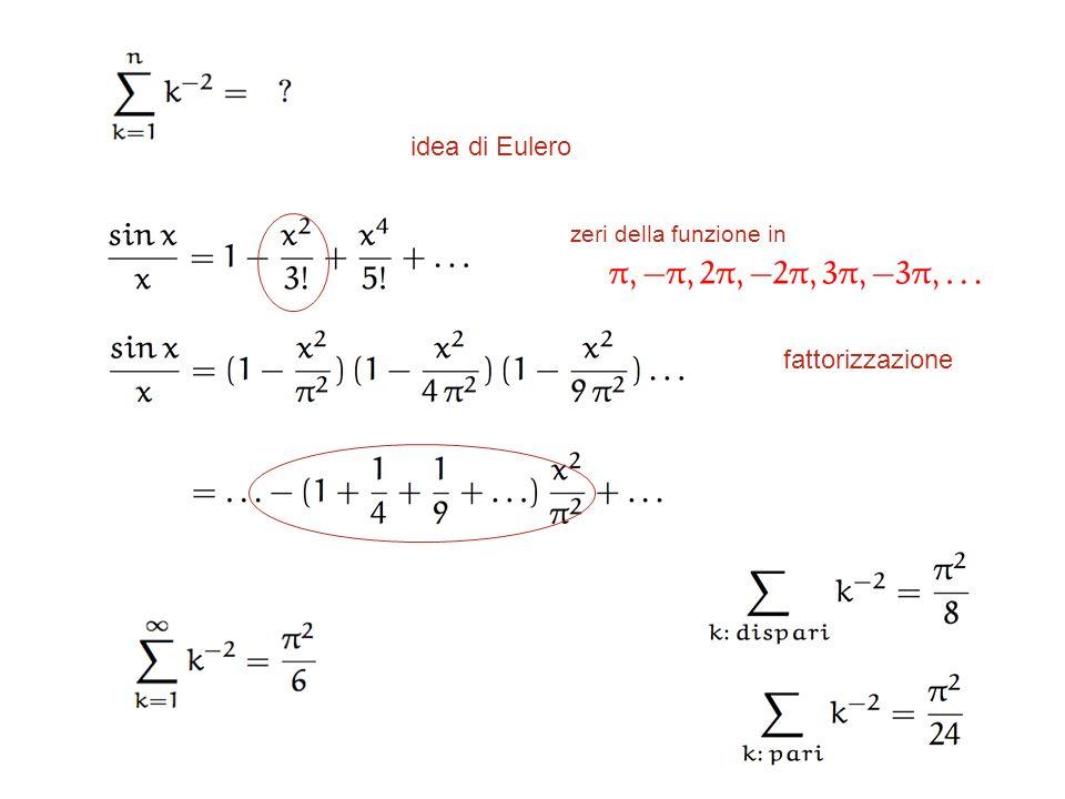 idea di Eulero zeri della funzione in fattorizzazione