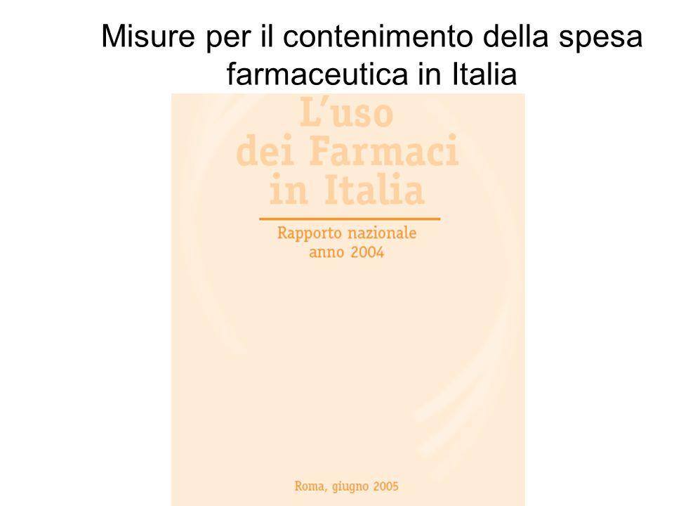 S.Capri - LIUC University Misure per il contenimento della spesa farmaceutica in Italia Luglio 2003