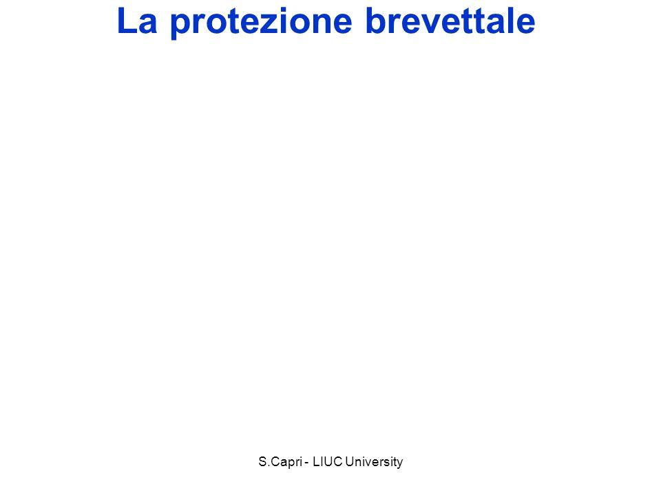 S.Capri - LIUC University La protezione brevettale