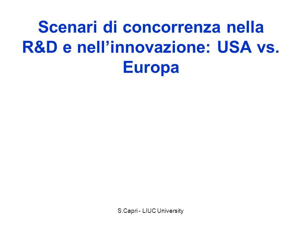 Scenari di concorrenza nella R&D e nellinnovazione: USA vs. Europa